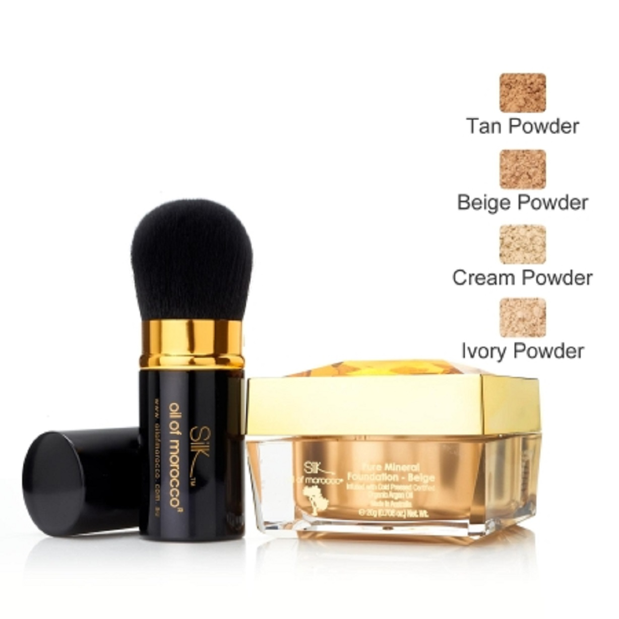Silk Oil of Morocco Argan Powder Foundation – mineraalipuuteri